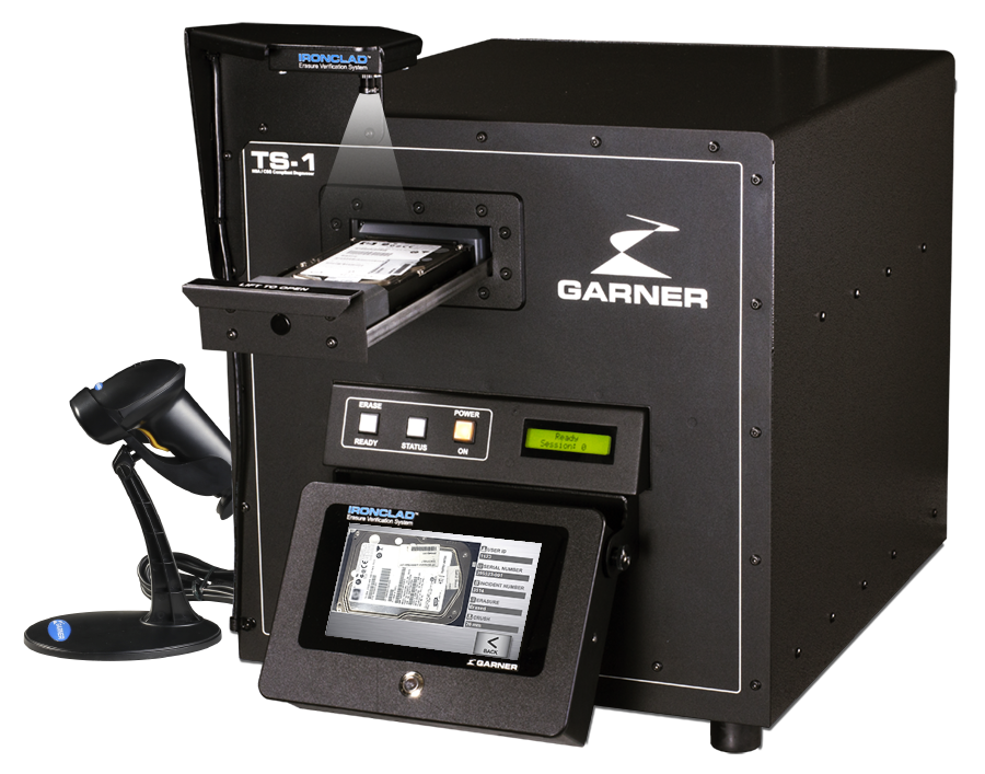 high security degaussers Garner TS-1E IRONCLAD